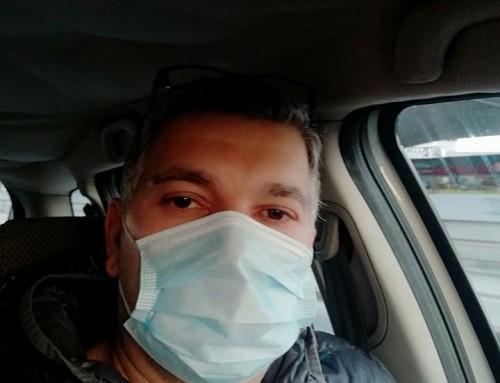 Zbolel, vstopna točka, testiranje na koronavirus COVID-19 in čakanje na izvid