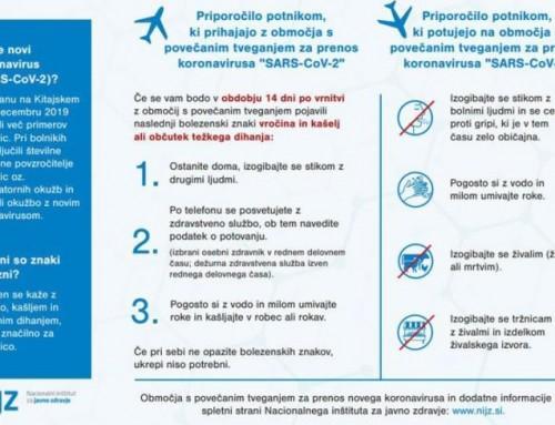 Koronavirus v Sloveniji – kontakti, preventiva in ukrepi